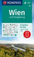 wandelkaart KP-205  Wenen en omgeving | Kompass 9783991212454  Kompass Wandelkaarten Kompass Oostenrijk  Wandelkaarten Wenen