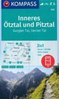 KP-042 Inneres Ötztal/ Pitztal/ Kaunertal   Kompass wandelkaart 9783991212546  Kompass Wandelkaarten Kompass Oostenrijk  Wandelkaarten Tirol