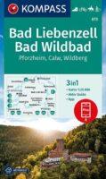 wandelkaart KP-873 wandelkaart Bad Liebenzell, Bad Wildbad 9783991212720  Kompass Wandelkaarten Kompass BW-Nord  Wandelkaarten Heidelberg, Kraichgau, Stuttgart, Neckar