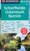 wandelkaart KP-744 Schorfheide/Uckermark | Kompass 9783991212935  Kompass Wandelkaarten Kompass Brandenburg / S.Anhalt  Wandelkaarten Brandenburg & Sachsen-Anhalt