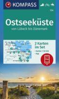 KP-724 Ostseeküste | Kompass wandelkaart 9783991213000  Kompass Wandelkaarten Kompass Duitsland  Wandelkaarten Sleeswijk-Holstein