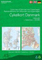 Cykelferiekort 1:510.000 | fietskaart/overzichtskaart Denemarken 9788779671706  Dansk Cyklist Forbund fietskaarten Denemarken  Fietskaarten Denemarken