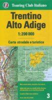 TCI-03  Trentino / Südtirol   1:200.000 9788836576432  TCI Italië Wegenkaarten  Landkaarten en wegenkaarten Zuid-Tirol, Dolomieten