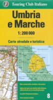 TCI-08  Umbria / Marche (Umbrië / De Marken) 1:200.000 9788836577972  TCI Italië Wegenkaarten  Landkaarten en wegenkaarten Umbrië