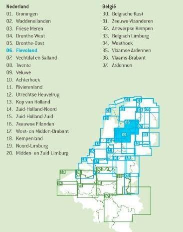FFK-06  Flevoland   VVV fietskaart 1:50.000 9789028704190  Falk Fietskaarten met Knooppunten  Fietskaarten Flevoland en het IJsselmeer, Kop van Overijssel, Vecht & Salland