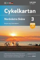 NC-03 Nordvästra Skane 1:90.000 9789113106090  Norstedts Cykelkartan Fietskaarten Zweden  Fietskaarten Zuid-Zweden