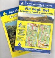 Via Degli Dei | wandelkaart Godenweg 1:25.000 (met een gidsje) 9791280163004  Escursionista   Lopen naar Rome, Wandelkaarten Bologna, Emilia-Romagna, Toscane, Florence