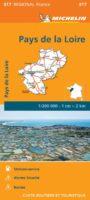 517 Pays-de-Loire   Michelin  wegenkaart, autokaart 1:200.000 9782067243804  Michelin Regionale kaarten  Landkaarten en wegenkaarten Loire & Centre