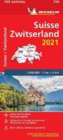 729 Zwitserland 2021   Michelin  wegenkaart, autokaart 1:400.000 9782067250055  Michelin Michelinkaarten Jaaredities  Landkaarten en wegenkaarten Zwitserland