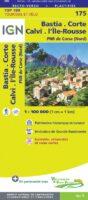 SV-175  Bastia/Corte (Corse Nord)   omgevingskaart / fietskaart 1:100.000 9782758547792  IGN Série Verte 1:100.000  Fietskaarten, Landkaarten en wegenkaarten Corsica