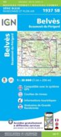 wandelkaart 1937-SB Belvès/ Beaumont-du-Périgord 1:25.000 9782758548249  IGN IGN 25 Dordogne  Wandelkaarten Dordogne
