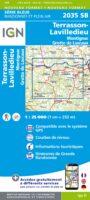 SB-2035SB Terrasson-Lavilledieu | wandelkaart 1:25.000 9782758548300  IGN IGN 25 Aquitaine  Wandelkaarten Dordogne