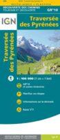 overzichtskaart GR-10 Pyreneeën 1:100.000 9782758551294  IGN   Wandelkaarten Franse Pyreneeën
