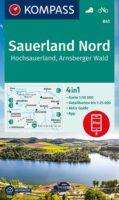 KP-841  | Kompass wandelkaart Noord-Sauerland 9783991212300  Kompass Wandelkaarten Kompass Nordrhein-Westfalen  Wandelkaarten Sauerland