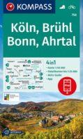 KP-758 Köln, Brühl, Bonn (Bad Godesberg), Ahrtal | Kompass wandelkaart 9783991212317  Kompass Wandelkaarten Kompass Duitsland  Lopen naar Rome, Wandelkaarten Aken, Keulen en Bonn