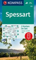 KP-832 Spessart | Kompass 9783991212355  Kompass Wandelkaarten Kompass Duitsland  Wandelkaarten Odenwald, Spessart en Rhön