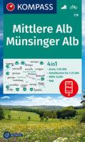 wandelkaart KP-779 Mittlere Alb, Münsinger Alb | Kompass 9783991212751  Kompass Wandelkaarten Kompass BW-Nord  Wandelkaarten Bodenmeer, Schwäbische Alb
