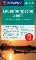 KP-721 Lauenburgische Seen 1:50.000 | Kompass wandelkaart 9783991213017  Kompass Wandelkaarten Kompass Duitsland  Wandelkaarten Sleeswijk-Holstein