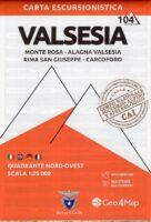 G4M-104 Valsesia (noord-west)   wandelkaart 1:25.000 9788899606107  Geo4Map   Wandelkaarten Turijn, Piemonte
