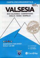 G4M-101 Valsesia (zuid-west)   wandelkaart 1:25.000 9788899606367  Geo4Map   Wandelkaarten Turijn, Piemonte