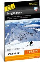 wandelkaart Lyngsalpene, Tur- og toppturkart  1:50.000 9789188779212  Calazo   Wandelkaarten Noors Lapland