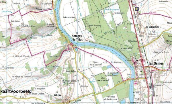 wandelkaart 2725-SB Moulins-Engilbert, Cercy-la Tour 1:25.000 9782758537298  IGN IGN 25 Bourgogne & Morvan  Wandelkaarten Morvan