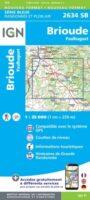 SB-2634SB  Brioude | topografische wandelkaart 1:25.000 9782758548768  IGN IGN 25 Auvergne  Wandelkaarten Auvergne