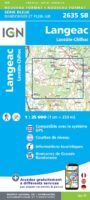SB-2635SB Langeac, Lavoûte-Chilhac | topografische wandelkaart 1:25.000 9782758548775  IGN IGN 25 Auvergne  Wandelkaarten Auvergne