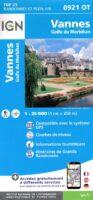 0921OT Vannes, Locqmariaquer | wandelkaart 1:25.000 9782758551362  IGN IGN 25 Bretagne  Wandelkaarten Bretagne