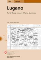 CH-1353  Lugano [2017] topografische wandelkaart 9783302013534  Bundesamt / Swisstopo LKS 1:25.000 Tessin  Wandelkaarten Tessin, Ticino
