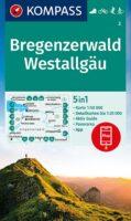 wandelkaart KP-2 Bregenzerwald-Westallgäu   Kompass 9783991212492  Kompass Wandelkaarten Kompass Oostenrijk  Wandelkaarten Vorarlberg