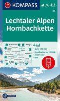 wandelkaart KP-24 Lechtaler Alpen-Hornbachkette   Kompass 9783991212669  Kompass Wandelkaarten Kompass Oostenrijk  Wandelkaarten Tirol