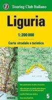 TCI-05  Liguria (Ligurië) / Riviera   1:200.000 9788836577958  TCI Italië Wegenkaarten  Landkaarten en wegenkaarten Genua, Cinque Terre (Ligurië)