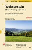 3318T Weissenstein | wandelkaart 1:33.333 9783302333182  Bundesamt / Swisstopo Wanderkarten 1:33.333  Wandelkaarten Basel, Zürich, Noord-Zwitserland, Jura, Genève, Vaud