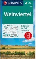 wandelkaart KP-204  Weinviertel | Kompass 9783991212638  Kompass Wandelkaarten Kompass Oostenrijk  Wandelkaarten Oberösterreich, Niederösterreich, Burgenland