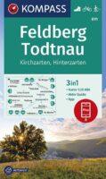 wandelkaart KP-891 Feldberg/Todtnau/Kirchzarten | Kompass 9783991212812  Kompass Wandelkaarten Kompass Zwarte Woud  Wandelkaarten Zwarte Woud