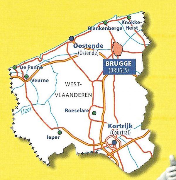 West-Vlaanderen | Michelin provinciekaart 1:150.000 9782067185289  Michelin België 1:150.000  Landkaarten en wegenkaarten Vlaanderen