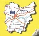 Oost-Vlaanderen   Michelin provinciekaart 1:150.000 9782067185296  Michelin België 1:150.000  Landkaarten en wegenkaarten Vlaanderen