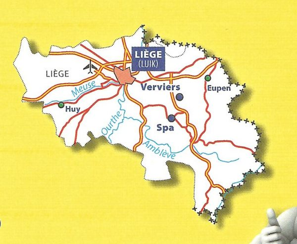376 Luik/Liège   Michelin provinciekaart 1:150.000 9782067185333  Michelin België 1:150.000  Landkaarten en wegenkaarten Wallonië (Ardennen)