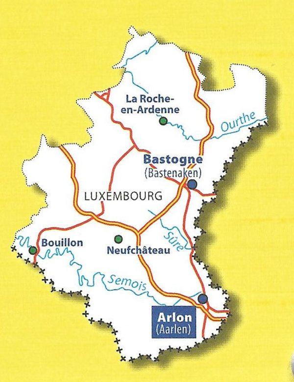 377 Luxembourg   Michelin provinciekaart 1:150.000 9782067185340  Michelin België 1:150.000  Landkaarten en wegenkaarten Wallonië (Ardennen)