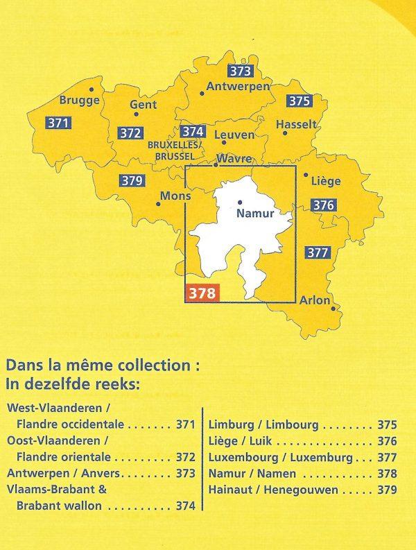 Namen | Michelin provinciekaart 1:150.000 9782067185357  Michelin België 1:150.000  Landkaarten en wegenkaarten Wallonië (Ardennen)