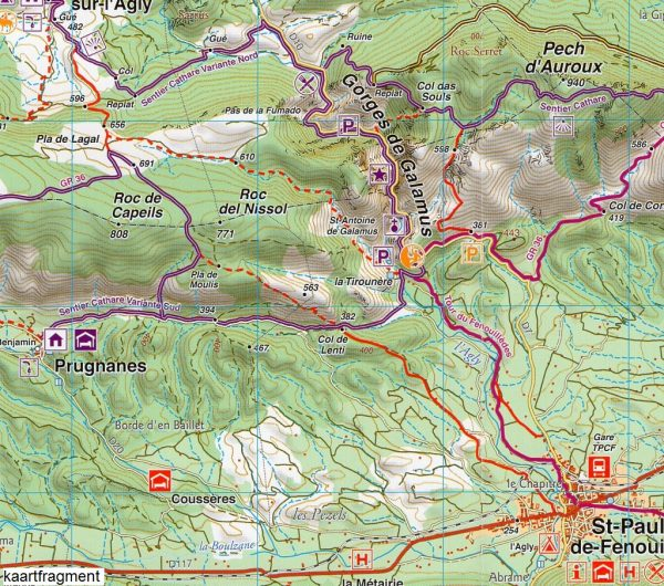 RP-09  Sentier Cathare 1:55.000 9782344013397  Rando Editions Randonnées Pyrénéennes  Meerdaagse wandelroutes, Wandelkaarten Franse Pyreneeën