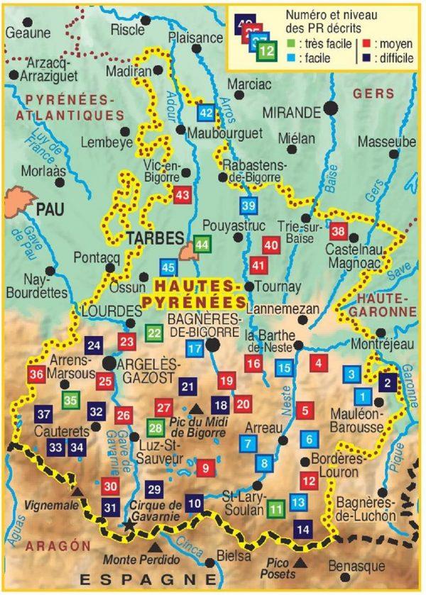 D065  Les Hautes-Pyrénées... à pied   wandelgids 9782751408212  FFRP Topoguides  Wandelgidsen Franse Pyreneeën