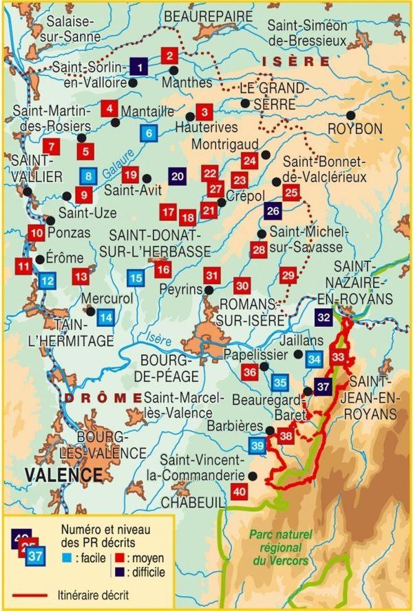 P263  la Vallée de la Drôme | wandelgids 9782751409264  FFRP Topoguides  Wandelgidsen Ardèche, Drôme