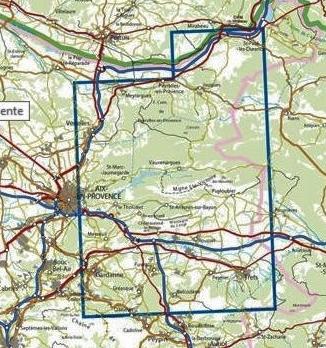 3244ET  Montagne Ste.Victoire/ Aix-en-Provence | wandelkaart 1:25.000 9782758539834  IGN IGN 25 Provence  Wandelkaarten Provence, Marseille, Camargue