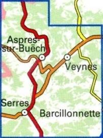 3338OT   Aspres-sur-Buëch, Veynes | wandelkaart 1:25.000 9782758539926  IGN TOP 25  Wandelkaarten Franse Alpen: zuid