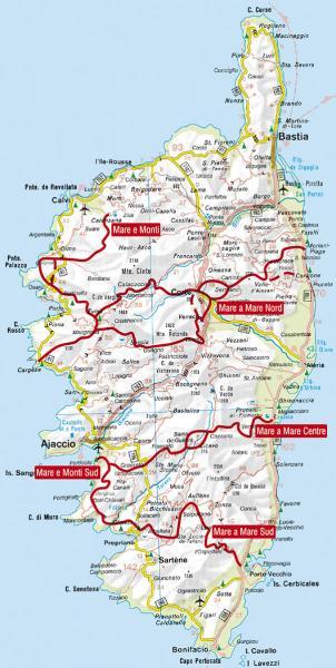 Rother wandelgids Korsika: Mare e Monti, Mare a Mare   Rother Wanderführer 9783763343973  Bergverlag Rother RWG  Meerdaagse wandelroutes, Wandelgidsen Corsica