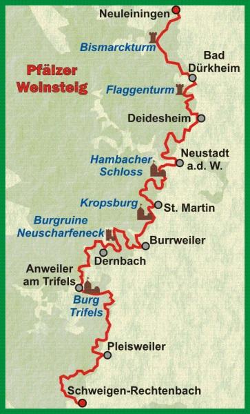 Pfälzer Weinsteig | wandelgids (Duitstalig) 9783866863804  Conrad Stein Verlag Outdoor - Der Weg ist das Ziel  Meerdaagse wandelroutes, Wandelgidsen Pfalz, Deutsche Weinstrasse, Rheinhessen