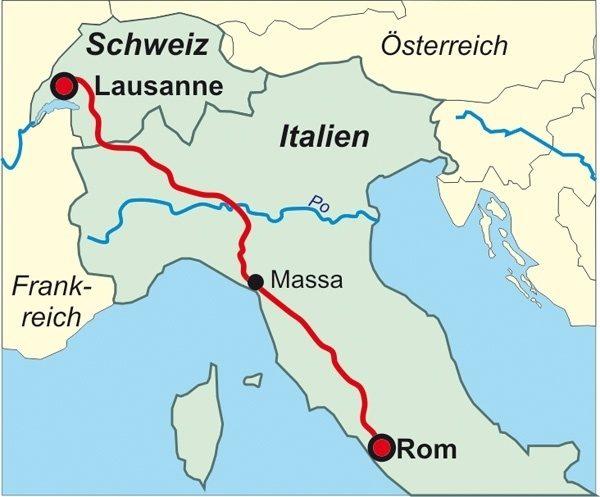 Via Francigena | wandelgids (Duitstalig) 9783866865594 Birgit Götzmann Conrad Stein Verlag Outdoor - Der Weg ist das Ziel  Lopen naar Rome, Wandelgidsen Italië