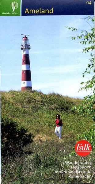 SBB-04  Ameland | wandelkaart 1:25.000 9789028712454  Staatsbosbeheer SBB kaart 1:25.000  Wandelkaarten Waddeneilanden en Waddenzee